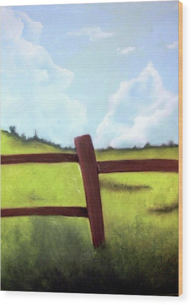 Grass Is Greener Wood Print by Corina Bishop