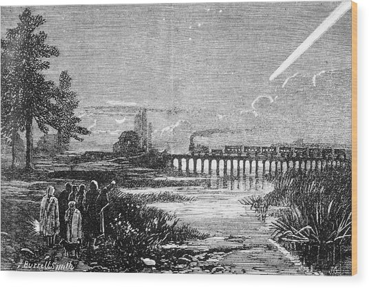 Great Comet Of 1882 Wood Print by Royal Astronomical Society/science Photo Library