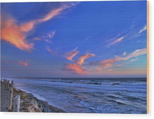 Great Highway Sunset Wood Print