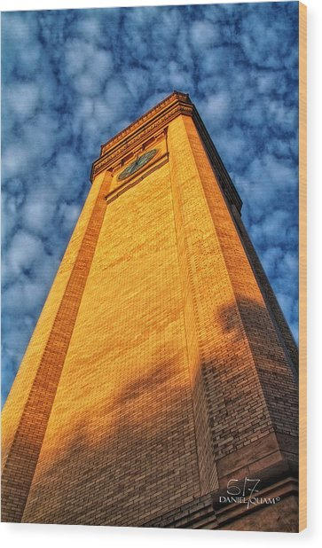 Great Northern Clock Tower Wood Print by Dan Quam