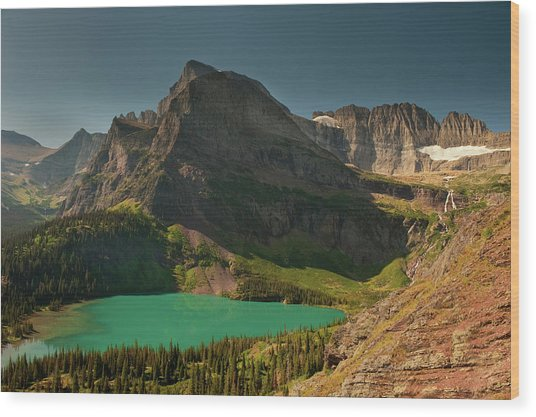 Grinnell Lake And Mount Gould, Glacier Wood Print