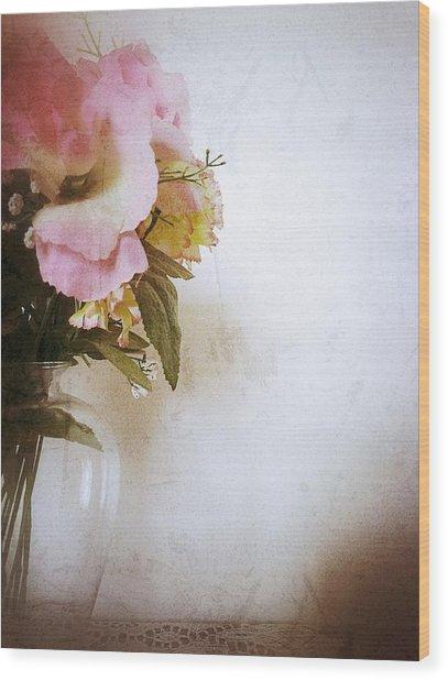 Grunge Flowers 4 Wood Print