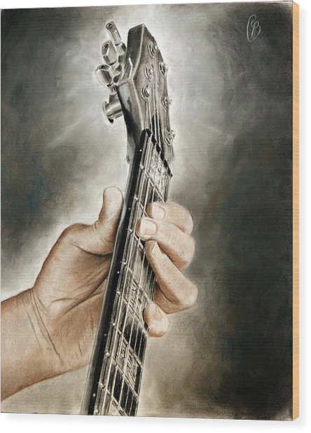 Guitarist's Point Of View Wood Print