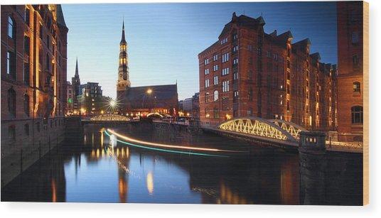 Hamburg Speicherstadt Wood Print