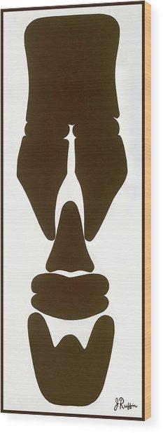 Hamite Male Wood Print