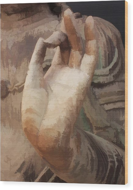 Hand Of Buddha C2014 Wood Print