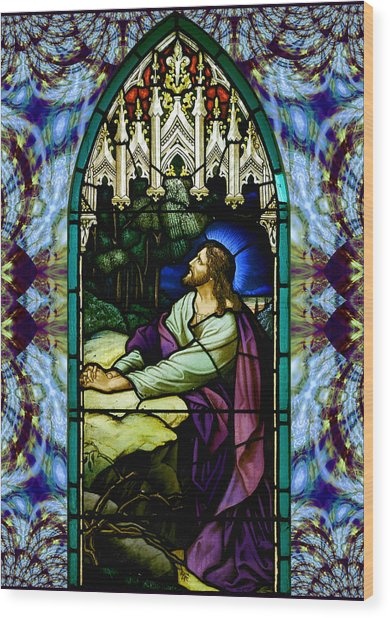 Handel Stained Glass Wood Print