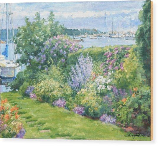 Harbor Garden Wood Print by Sharon Jordan Bahosh