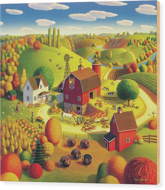Harvest Bounty Wood Print