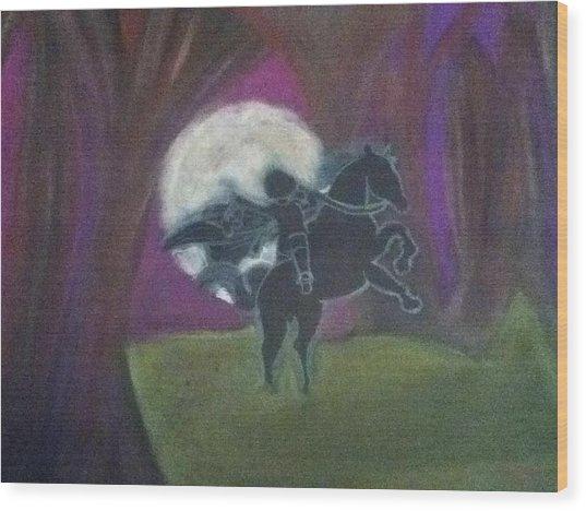 Headless Horseman  Wood Print by Kae Mangan