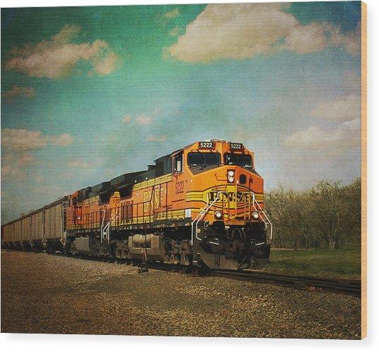 Hear The Train A Coming Wood Print