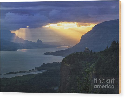 Heavenly Sunrise Wood Print
