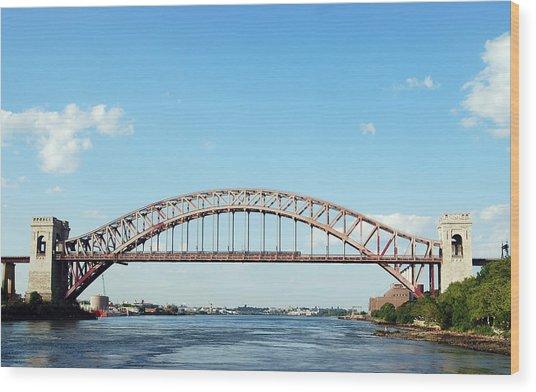 Hell Gate Bridge Wood Print
