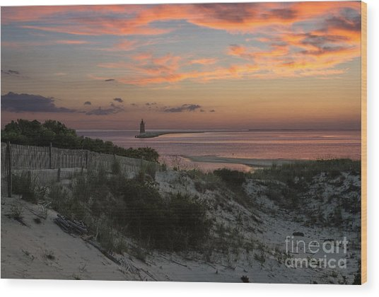 Henlopen Sunset Wood Print