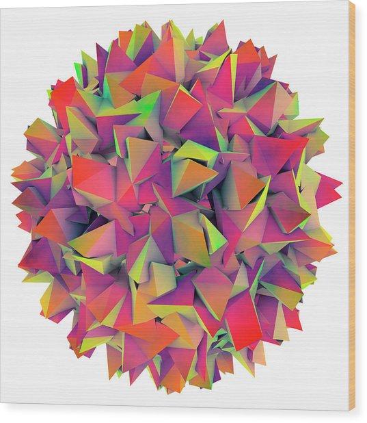 Hepatitis B Virus Wood Print by Kateryna Kon