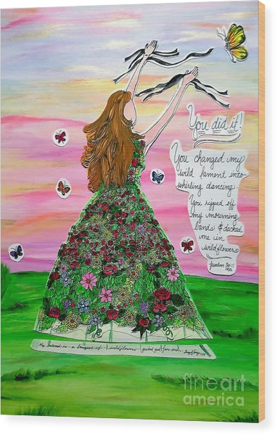 Her Name Is Wildflower Wood Print by Michelle Bentham