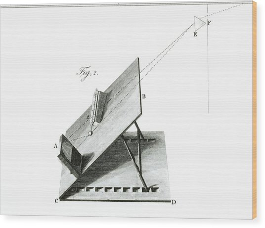 Herschel Infrared Light Experiments Wood Print