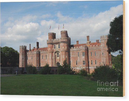 Herstmonceux Castle Wood Print