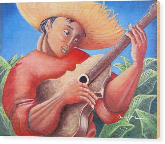 Hidalgo Campesino Wood Print
