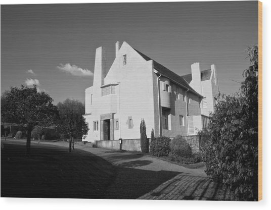 Hill House By Charles Rennie Mackintosh Wood Print