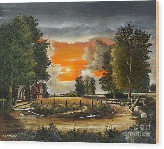 Hoggets Farm Wood Print