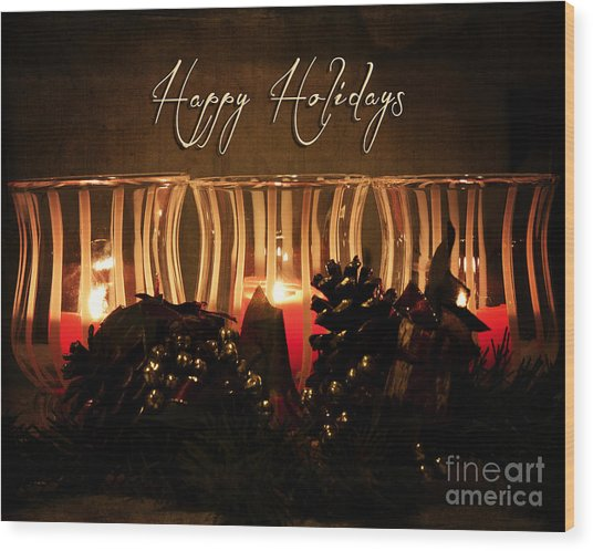 Holiday Glow Wood Print