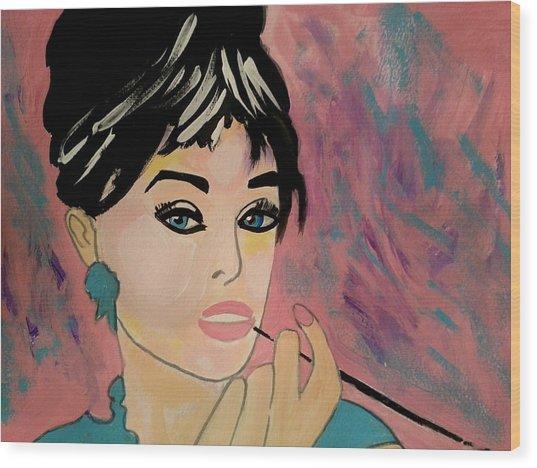 Audrey Hepburn - Holly  Wood Print
