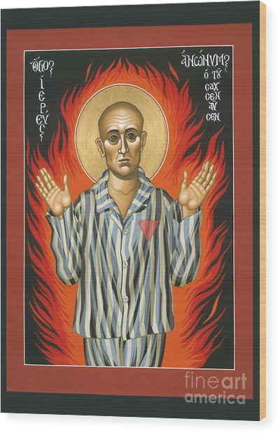 Holy Priest Anonymous One Of Sachsenhausen 013 Wood Print