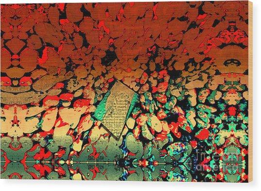 Hot Rocks Wood Print