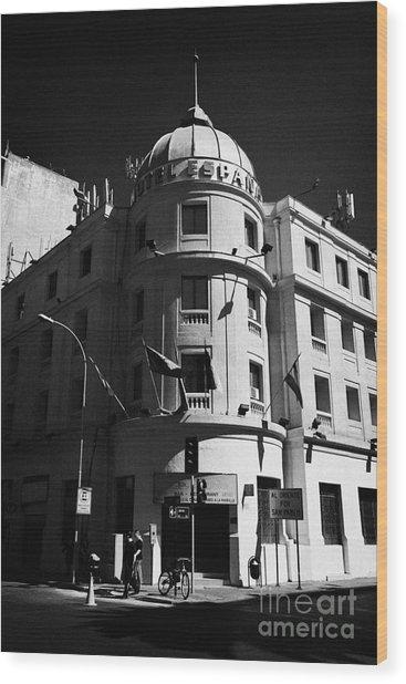 hotel espana Santiago Chile Wood Print by Joe Fox