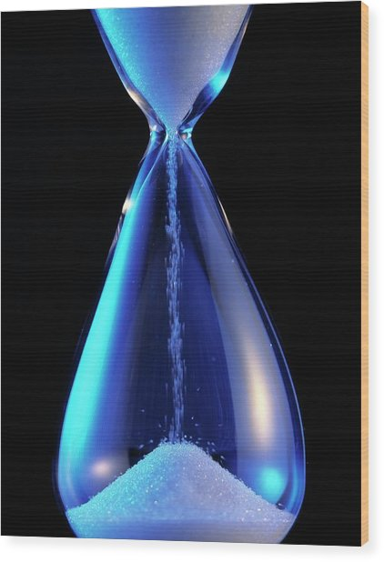 Hourglass Wood Print by Sheila Terry/science Photo Library