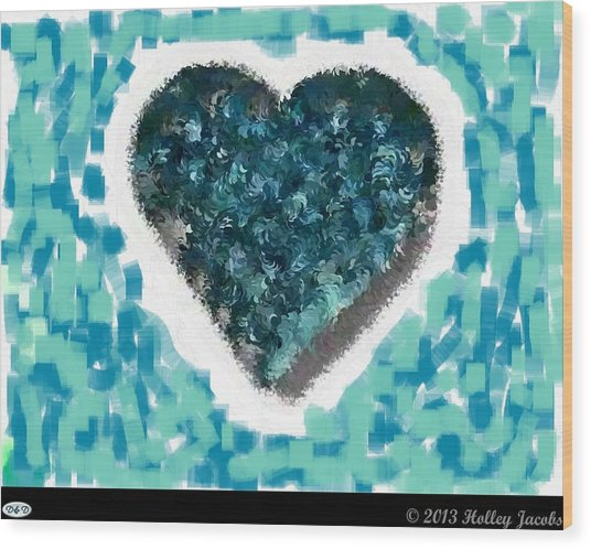 How Do I Live Teal Wood Print by Holley Jacobs