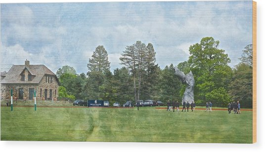 Hrh Prince Harry And Greenwich Polo Club Wood Print