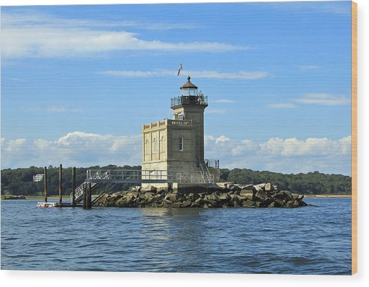 Huntington Lighthouse Wood Print