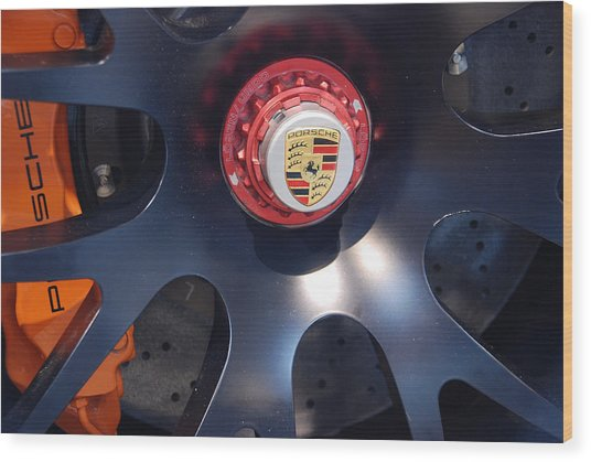 Hybrid Wheel  Wood Print