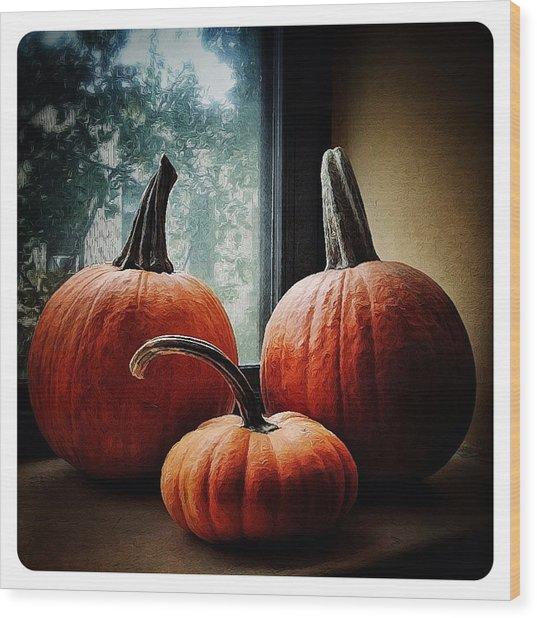 I Love Pumpkins Wood Print