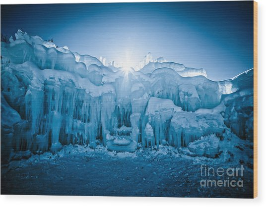 Ice Castle Wood Print