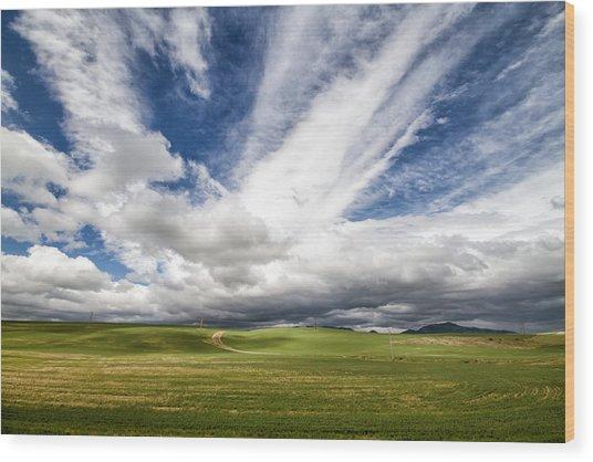 Idaho Sky Wood Print