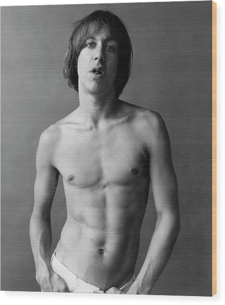 Iggy Pop Shirtless Wood Print