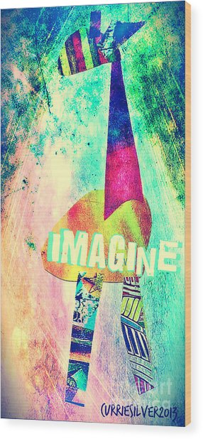 Imagine Wood Print by Currie Silver