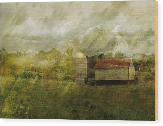 In The Distance Wood Print by Kathy Jennings