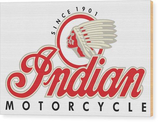 Indian Motorcycle Logo Wood Print