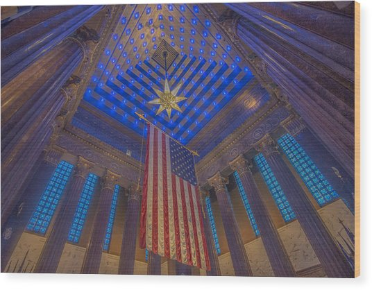 Indiana War Memorial Shrine  Wood Print