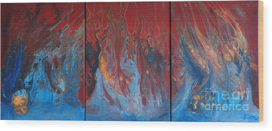 Inferno Series Wood Print
