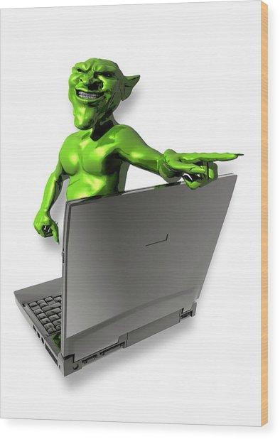 Internet Troll Wood Print