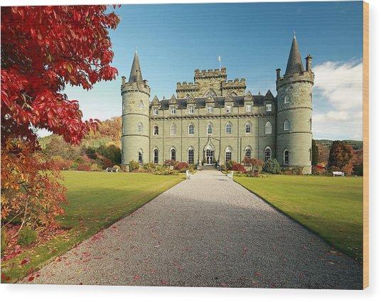 Inveraray Castle Wood Print
