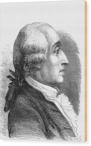 Jacques Charles Wood Print by Collection Abecasis/science Photo Library
