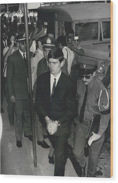 Jailed Arabs Await Skyjack Swap Wood Print by Retro Images Archive