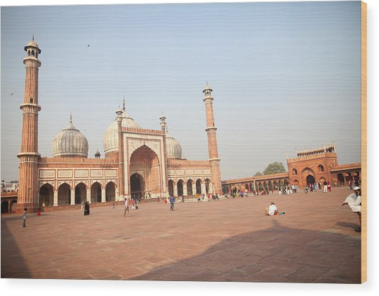 Jama Masjid, New Delhi, India Wood Print by BDphoto