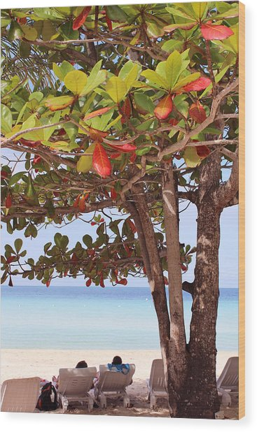 Jamaican Day Wood Print